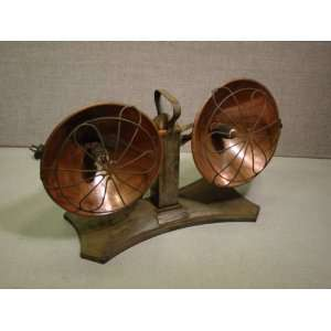 Vintage 1930s Art Deco Twin Radiant Electric Heaters