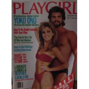 Playgirl Magazine featuring Lorenzo Lamas and Heather