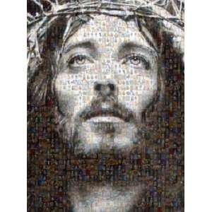 Jesus Christ HUGE Mosaic Collage of Jesus Photos By