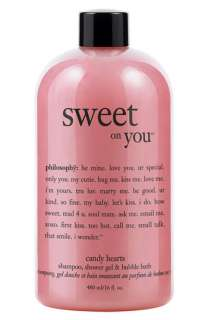 philosophy sweet on you candy hearts shampoo, shower gel & bubble