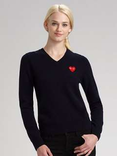 Comme des Garcons Play   Wool Heart Sweater