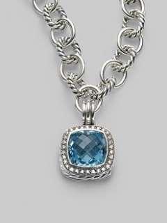 David Yurman   Blue Topaz, Diamond & Sterling Silver Enhancer