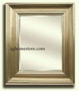 Gallery Framed Wall Mirror Antique Light Gold/Silver