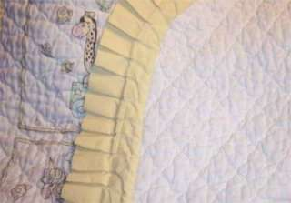 VINTAGE PRECIOUS MOMENTS COUNTING QUILTS    PERSONALIZE BABY CRIB