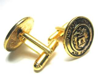 United States Air Force Gold Military Logo Cufflinks
