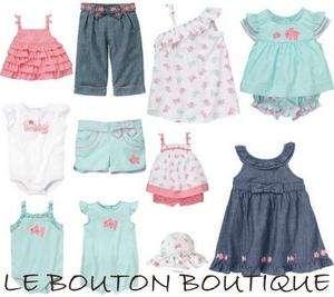 Girls 0 3 6 12 18 24 GYMBOREE BUBBLY BABY Dress Romper Top Short Pant