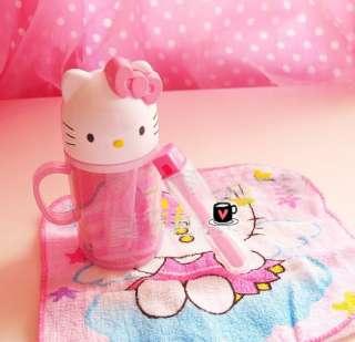 3in1 Hello Kitty Toothbrush Hand Towel Travel Kid Set