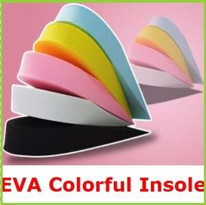 NEW Colorful EVA Height Increase Shoe Insoles h eva
