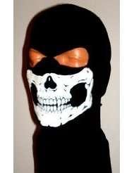 Black Skull Ghost Balaclava 2 Hole Hood Full Face Winter Ski Mask Call