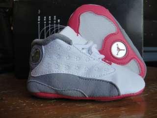 Nike Jordan 13 White Pink Grey Soft Shoes Crib 3