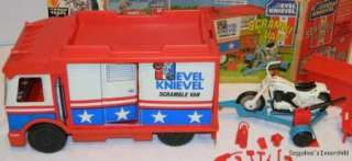 Lot Evel Knievel Scramble Van, Stunt Cycle, Comic Book & More Vintage