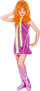 Girls Scooby Doo Daphne Halloween Costume Kids Children