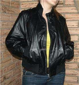 New BLACK Vinyl PU PVC Gothic BIKER BOMBER MOTORCYCLE Flight jacket