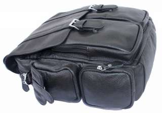 Mens Women Genuine Real Leather Backpack Travel Bag Purse Laptop Case