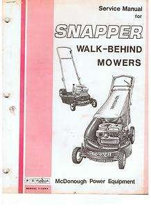 MANUAL SNAPPER WALK BEHINF MOWERS ANTIQUE VINTAGE LAWN MOWER
