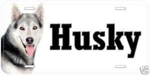 Siberian Husky Dog Aluminum Car Tag License Plate