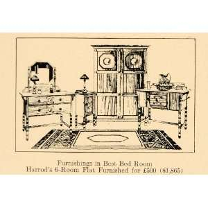 1920 Ad Harrods Bedroom Furniture Maker London England