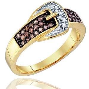 White Diamond Belt Wedding Anniversary Fashion Ring Yellow Gold