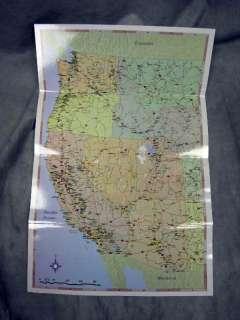 EZ Map Western United States USA California Nevada Utah