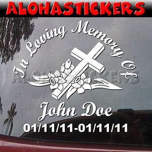 CUSTOM IN LOVING MEMORY OF RIP Vinyl Decal Sticker R1