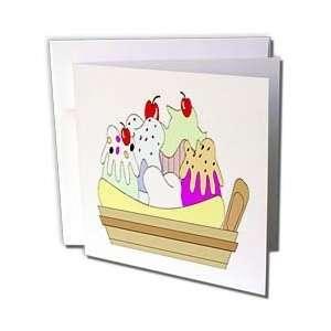 Florene Décor II   Banana Spilt Ice Cream Dish   Greeting