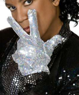 Deluxe Michael Jackson Silver Sequin Glove for Costume