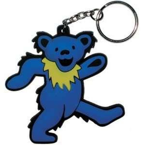 Grateful Dead Blue Dancing Bear Set of 2 Rubber Keychains