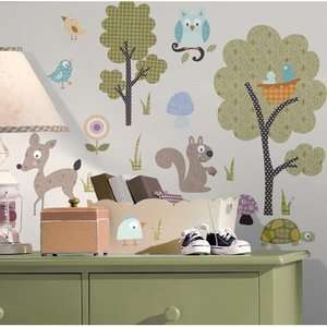 Mates Woodland Animals Peel and Stick Wall Sticker Kids & Teen Rooms