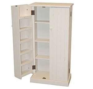 Pine Wood Kitchen Pantry 2 Door Kitchen Cabinet Storage Organizer Unit