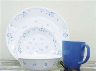 16pc CORELLE PROVINCIAL BLUE FLORAL DINNERWARE SET *NEW