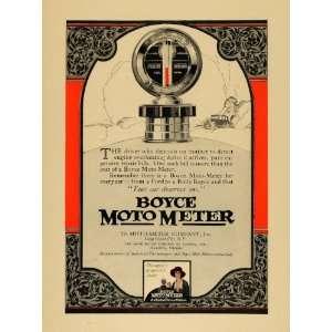 1924 Ad Boyce Moto Meter Engine Overheating Gauge NY
