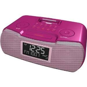 AM/FM RDS Atomic Clock Radio With iPod Dock: MP3 Players & Accessories