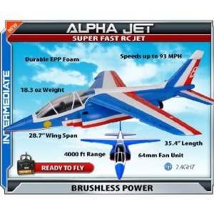 Parkflyers Alpha Jet RTF Electric RC Jet RC Plane 21273: Toys & Games
