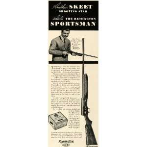 1934 Ad Remington Arms Sportsman Hunt Rifle Clark Gable