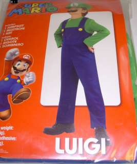 Luigi Super Mario Jumpsuit Costume Dress up Child M 8 NIP 883028373161
