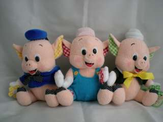 Three Little Pigs Plush Cute Soft Toy Japan New Retired RARE