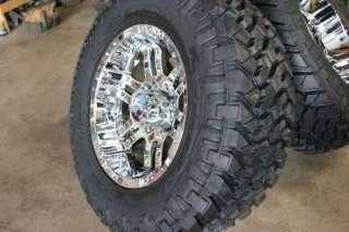 35x12.50 17 Chrome Moto 951 Nitto Trail Rims Tire Pkg