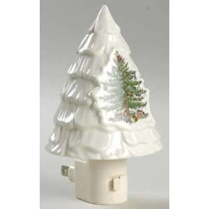 Spode Christmas Tree Green Trim Night Light, Fine China Dinnerware