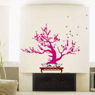 JAPANESE APRICOT TREE DECALS WALL DECOR STICKERS #297