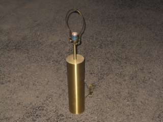 SIGNED Walter von Nessen Hollywood Regency Polished BRASS LAMP