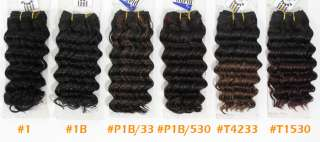 Milky Way Ripple Deep Wave Weave 12 Inch 100% Human Hair #2 Milky Way