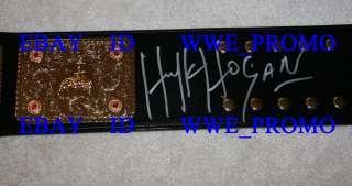 TNA WCW WWE Hulk Hogan World Championship Signed Belt